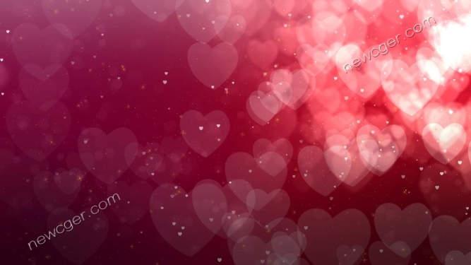 4k级浪漫梦幻的粉色爱心粒子动态背景视频素材