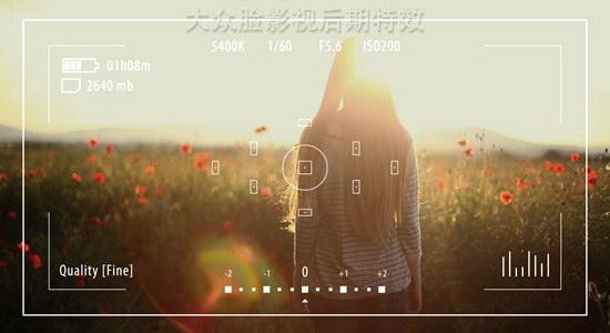 ae模板:手机单反相机摄像机拍摄取景框效果 info plates - camera ui
