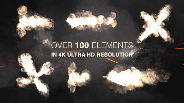 4k视频素材:102组动作枪战电影枪口火焰闪光特效 muzzle flash - real