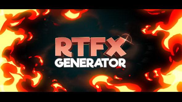 动漫雷电能量爆炸游戏火焰烟雾流体mg动画元素   破解脚本   视频素材