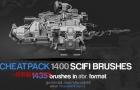 Gumroad – 1400 Sci-Fi Brushes Photoshop – Oleg Vdovenko