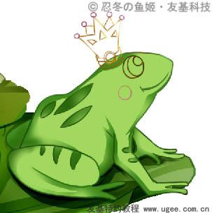 画出青蛙身上的花纹