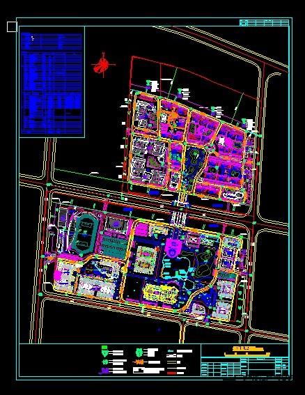 40套大学校园规划总平面图 建筑景观园林设计cad方案图纸