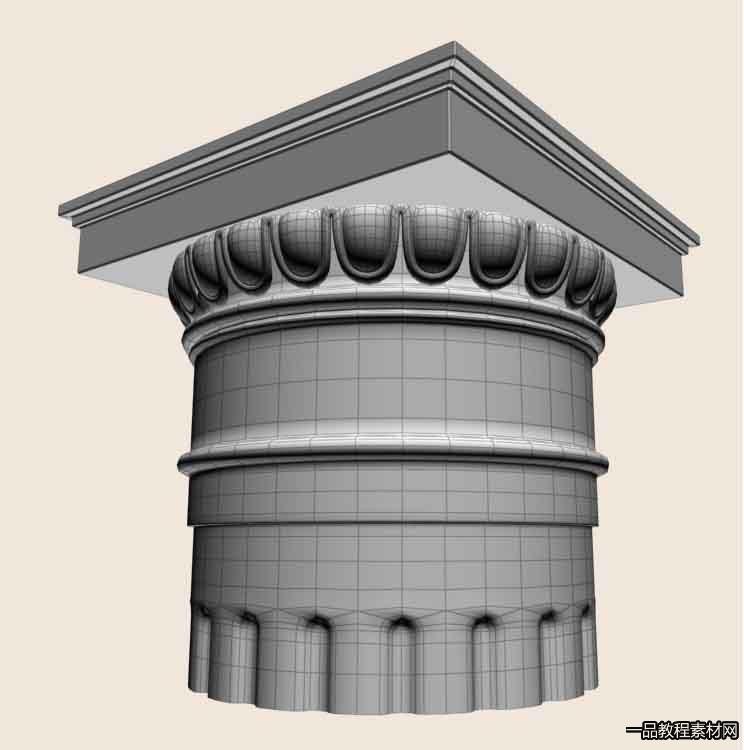 3Dmax欧式模型高级建模视频教程