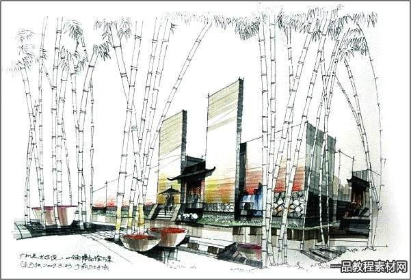 一千张建筑快题临摹素材,马克笔表现上下册,这是我见过的最好的快题素材啦