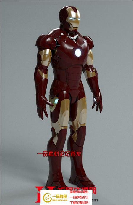 钢铁侠mark 3高分辨率3D模型