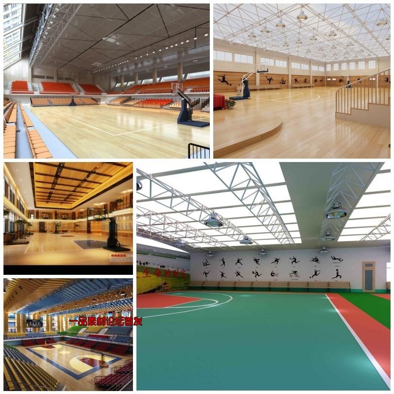 运动场体育馆3d模型游泳馆足球篮球乒乓球网球场3dmax模型源文件