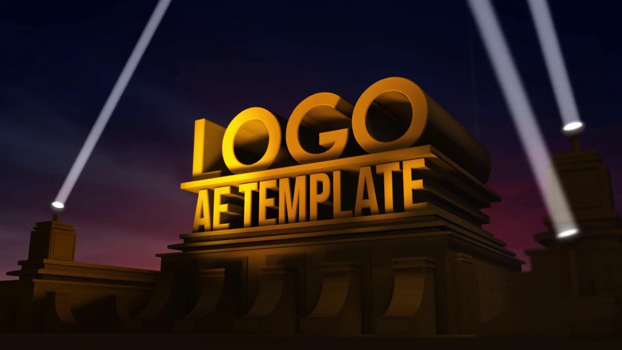 仿二十世纪福克斯电影片头Logo动画 3D Logo Movie Premiere With Searchlights