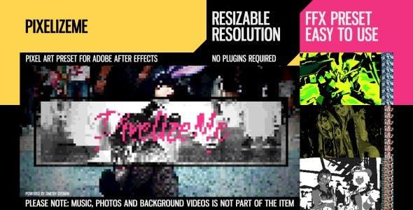 视频像素化马赛克特效 PixelizeMe