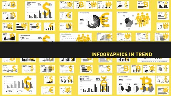 信息数据图表展示动画 Infographics in trend