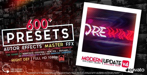 600+视频特效调色文字动画预设 AUTHOR Effects Master FFX