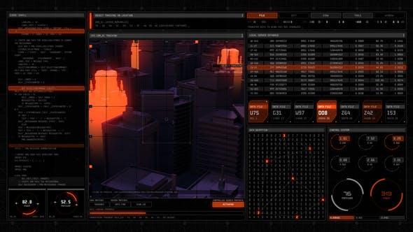 科技感人物信息展示动画元素 Technodrome HUD UI Pack