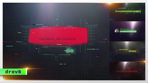 科技感音频波形动画 Digital Audio Waveform