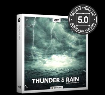 打雷闪电下雨环绕立体无损音效 thunder&rain 9.1G 66个WAV文件