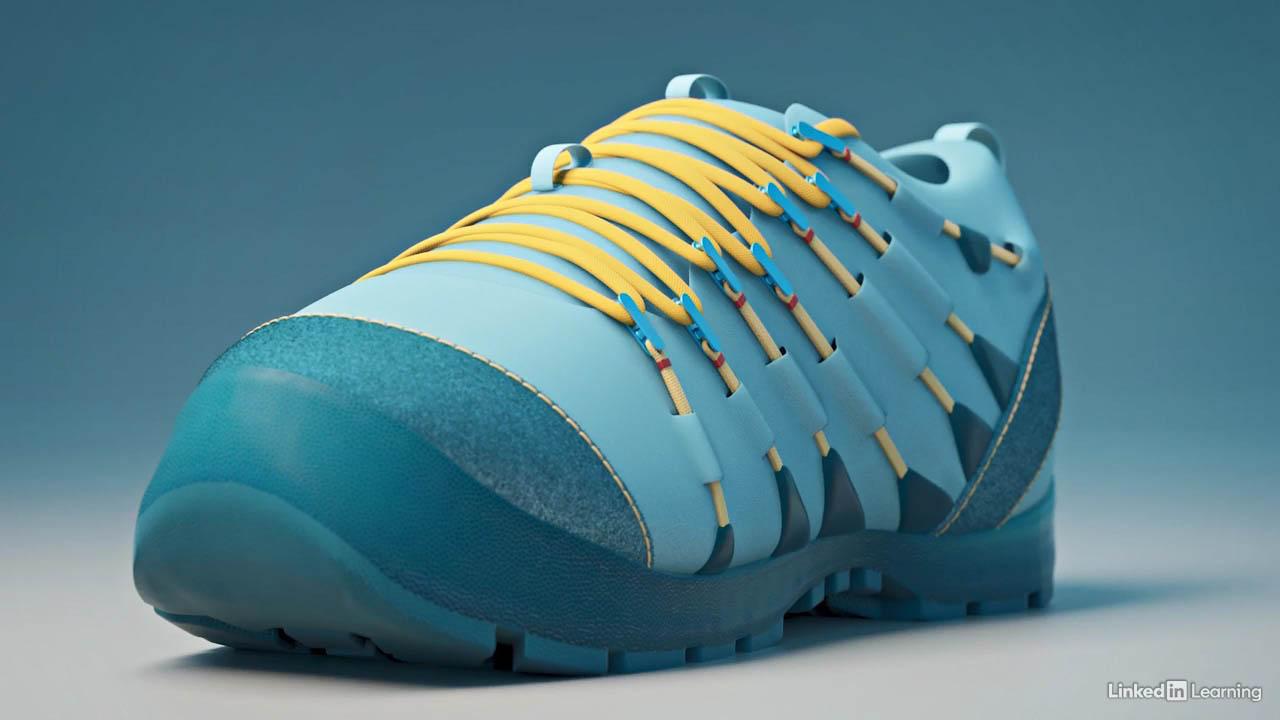 Modo鞋子产品渲染教程(英文字幕) Lynda – Modo Product Visualization Shoe Rendering