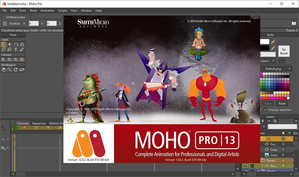 二维卡通动画制作软件 Smith Micro Moho Pro v13.5 Win破解版