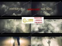令人感到恐惧的邪恶死亡恐怖电影预告片AE模板,长短2版入