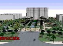 72个广场公园sketchup模型库