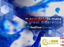 RealFlow C4D R18/R19/R20/R21流体模拟插件 NextLimit RealFlow C4D 3.1.1.0026 Win破 ...
