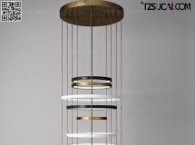 3D灯具模型  新中式吊灯组合模型高品质 3D模型下载