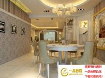 温馨餐厅模型