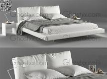 现代简约卧室床模型漂亮的床模型 高品质模型下载