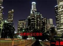 西方城市夜景穿行的车辆高清实拍延时素材