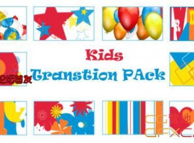 小孩卡通转场视频素材 VideoHive – Kids Transition Pack