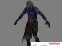 紫皮肤的男人 高品质人物CG模型