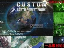 地球街变焦动画,全球定位AE模板,Earth Street Zoom