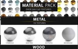 500+C4D建模材质包纹理贴图材质球C4D预设素材