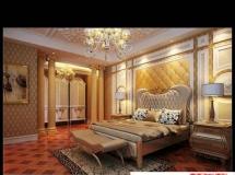 欧式古典卧室模型