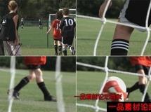 学生踢足球高清实拍视频素材1080P