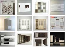 3ddd - modern Wardrobe & Display cabinets vol 1