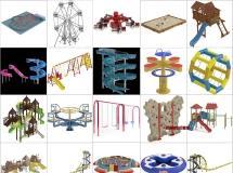 100个精品游乐设备模型下载 -一品素材单体模型库下载