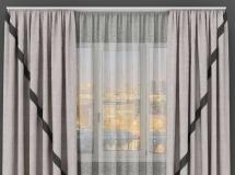 3D窗帘模型 精心的现代布艺窗帘3Dmax模型