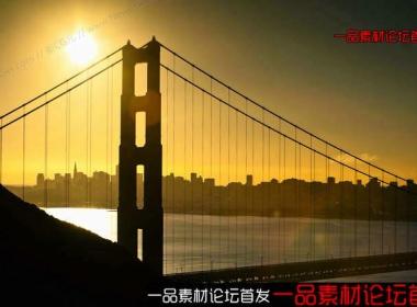 金门大桥的日出时分延时摄影素材 Golden Gate Sunrise