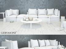 3D沙发模型  白色简约组合沙发模型下载