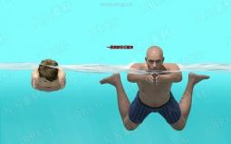 人物角色游泳蛙泳姿势动画3D模型合集