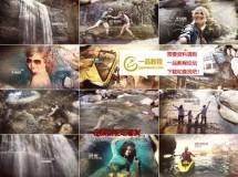 实拍+后期,瀑布水流间美妙的生活记忆时刻AE模板