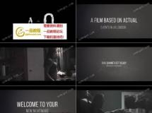 令人感到紧张刺激的黑暗电影预告片AE模板