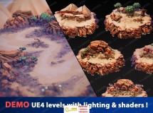 完整岩石沙漠草木灌木群纹理贴图环境UE4游戏素材资源