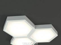 3D吸顶灯模型  后现代多边形吸顶灯3D模型下载