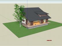 小型别墅整体模型-1M草图大师su模型