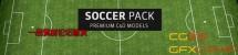 足球场相关C4D模型 The Pixel Lab – 3D Soccer Pack