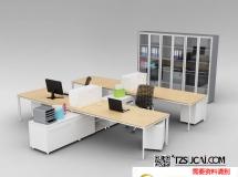 3D办公模型  现代办公室桌椅组合3D模型下载