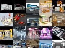 100个精品展厅模型-一品素材单体模型库下载