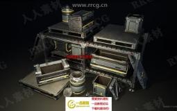 科幻箱子高质量模型与纹理材质UE4游戏素材资源