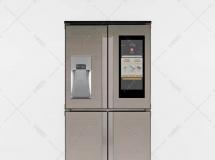 3D电器模型  带显示屏幕的新式冰箱模型