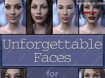 10种脸型五官不同风格妆容女性3D模型